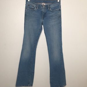 Lucky Brand Dungarees Low Rise Flair Sz 6